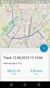 Track Details with a Map Representation