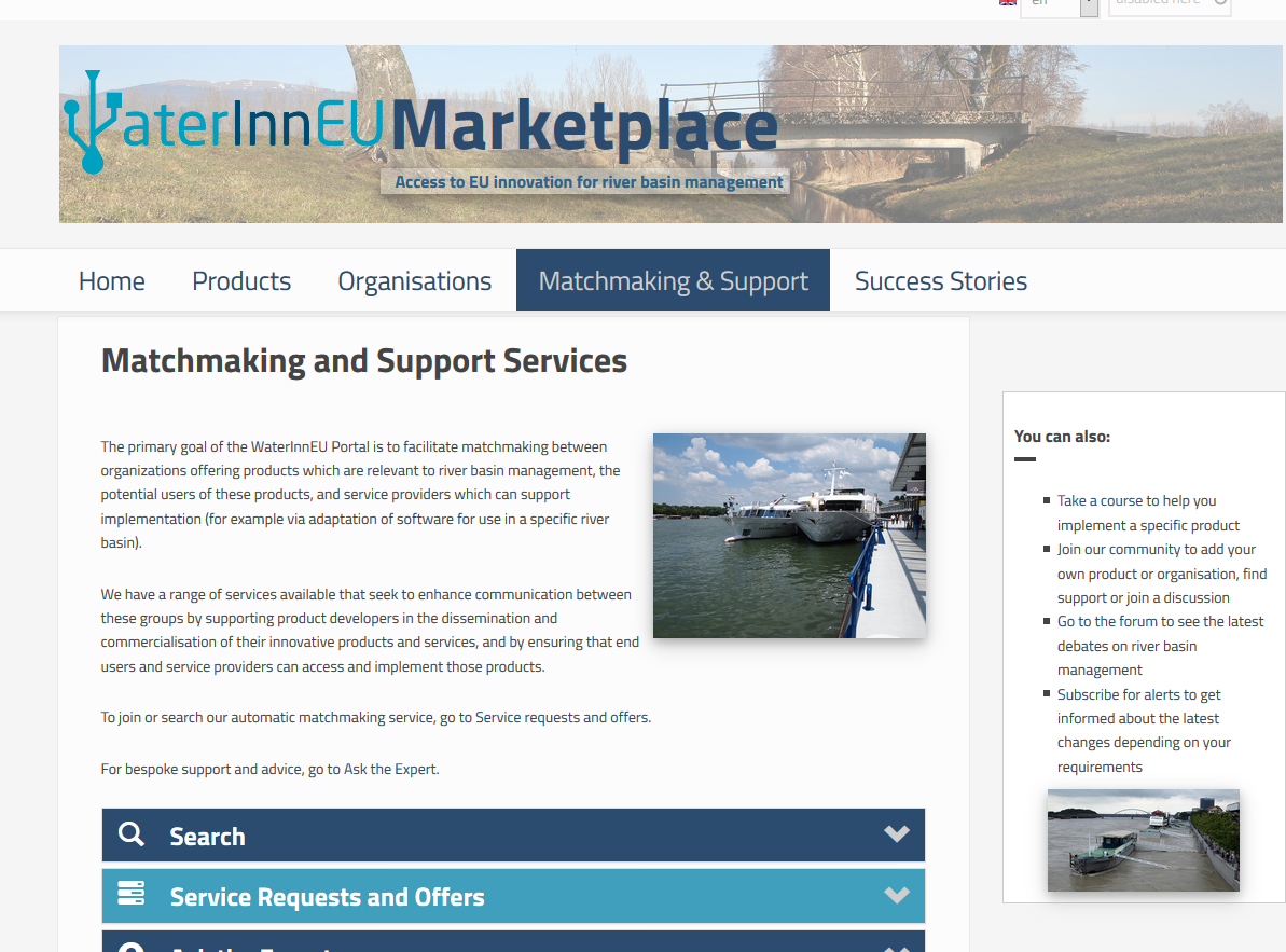 WaterInnEU Marketplace support
