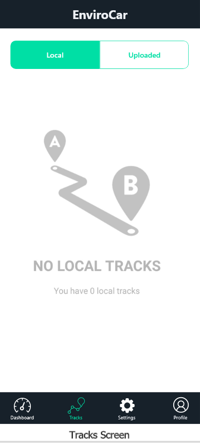 proposed tracks screen